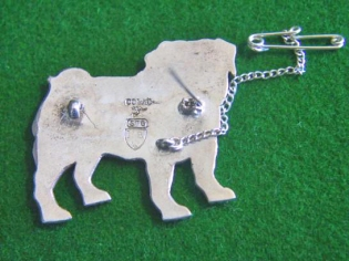 Pug Dog Sterling Silver brooch