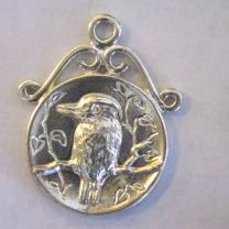 Sterling Silver Kookaburra Pendant