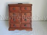 Wooden apprentice drawers H 34cm W 30cm 11cm deep