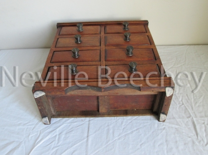 Wooden apprentice drawers H 34cm W 30cm 11cm deep