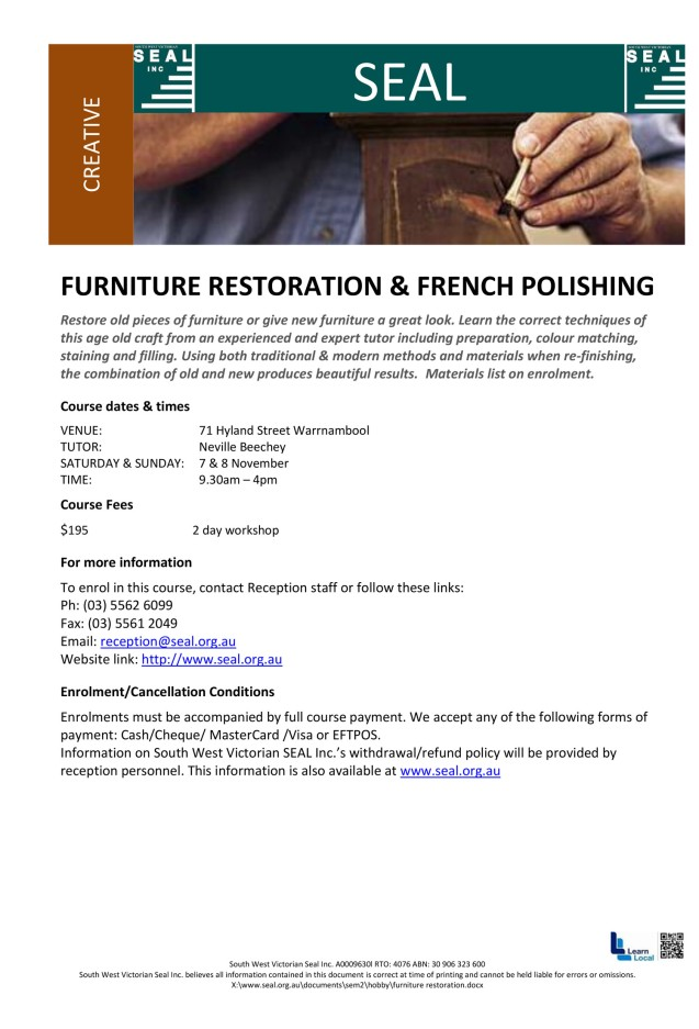 Furniture restoration with Neville Beechey