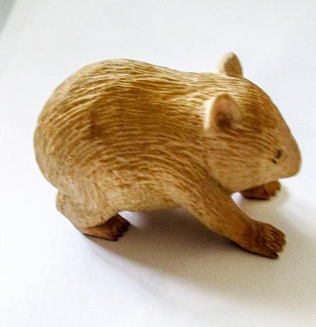 Neville Beechey Wombat Huon Pine Model. 012